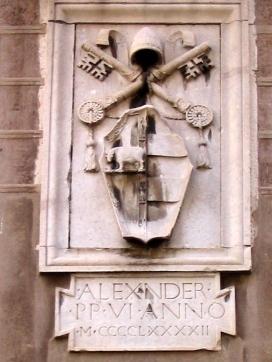 El escudo de Alejandro VI en uno de las puertas del Vaticano